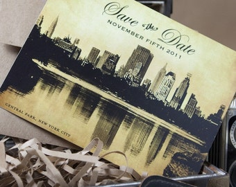 Vintage Filigree NYC Save the Date (Eco-friendly) - Design Fee