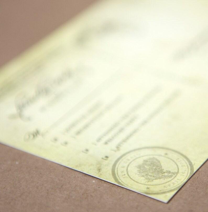 Florida Design Fee Vintage Calligraphy Wedding Invitation