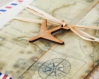 Vintage Air Mail Destination Wedding Invitation (Mexico) - Design Fee