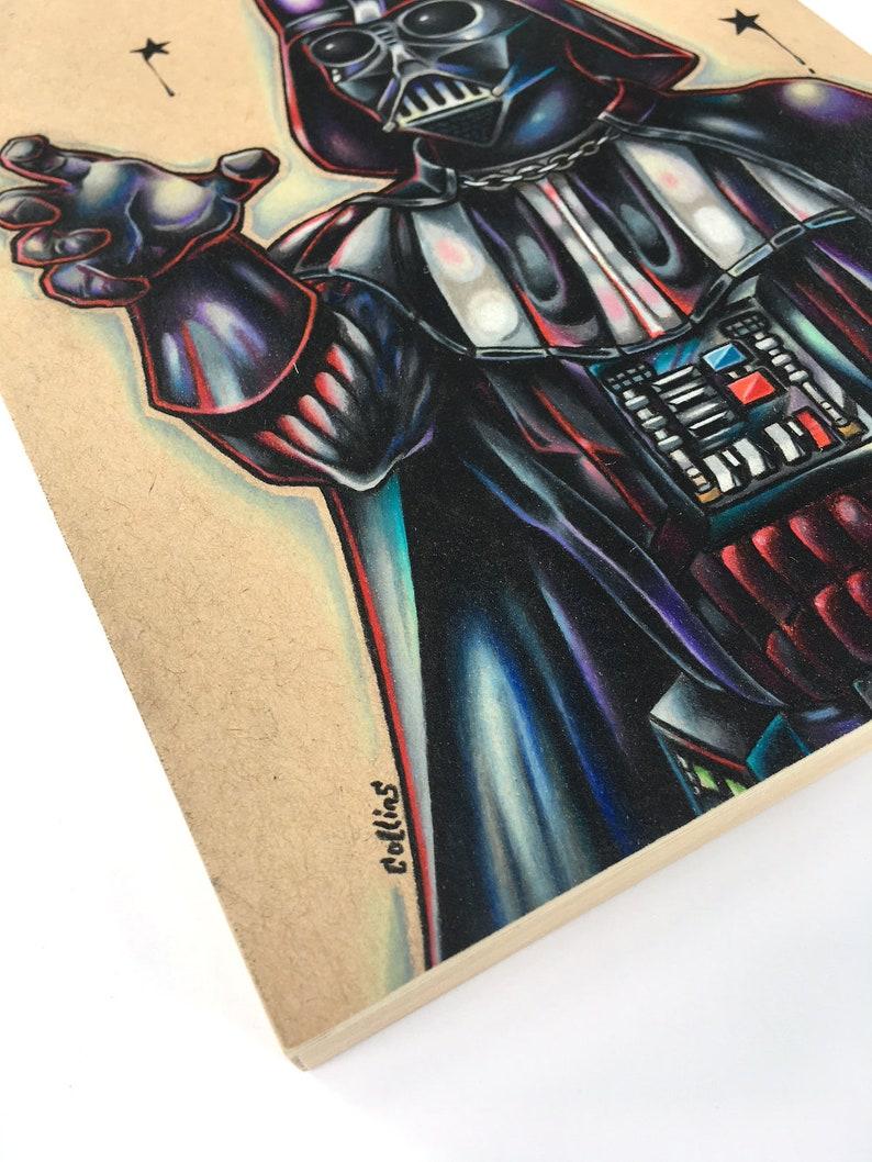 Darth Vader Original 8x10 Star Wars pop art on wood by Bryan Collins