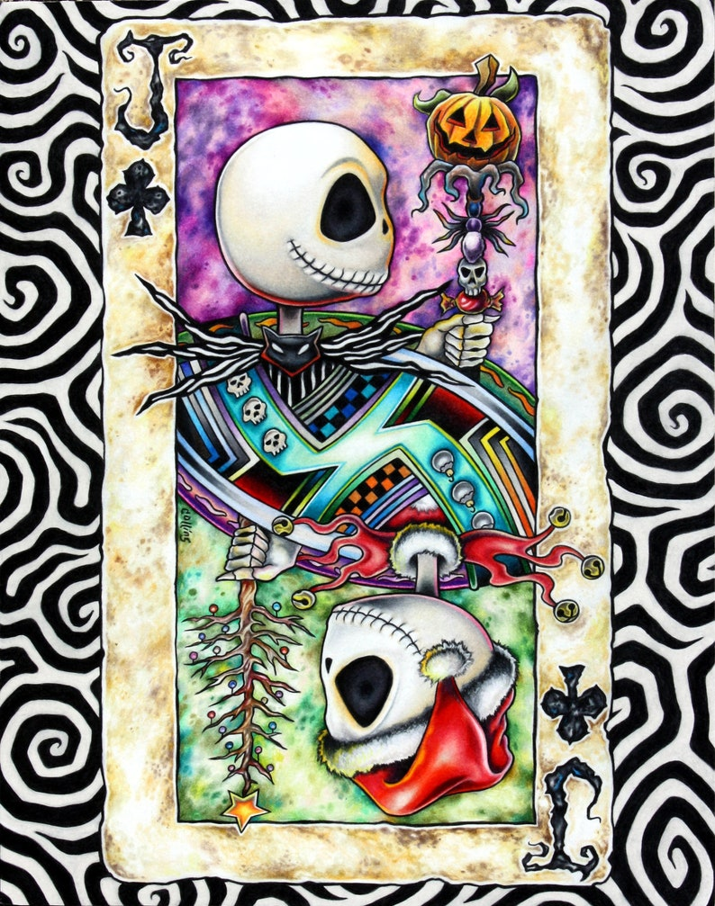 Jack Skellington Christmas.Nightmare Before Christmas Paper Note Holder Jack