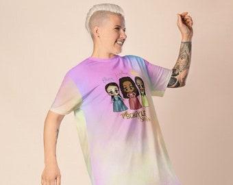 Kawaii Schuyler Sisters Adult T-shirt dress 2XS - 6XL