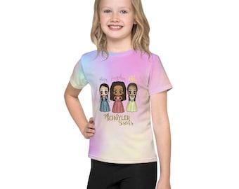 Kawaii Schuyler Sisters Art Kids crew neck t-shirt