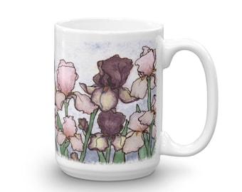 Iris Blooms 15 oz Mug