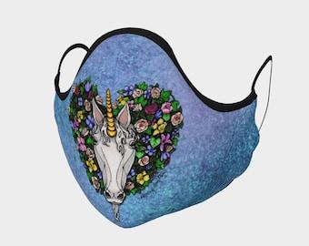 Unicorn Wreath Face Mask
