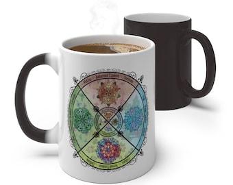 Seasonal Wheel of the Year pagan art Color Changing Mug