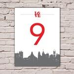 Philadelphia Love Table Number Cards