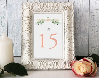 Vintage Inspired Romantic Table Number Cards