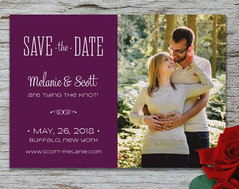 Simple & Modern Save the Date Photo Card with Printed Envelopes
