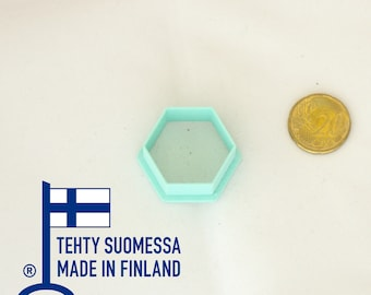 Hexagon polymer clay cutters individual, 3D printed