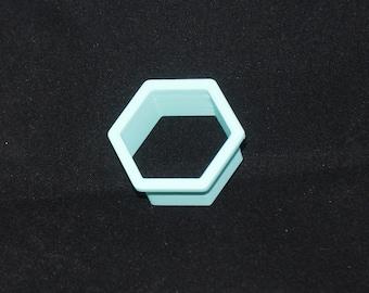 Hexagon polymer clay cutter set 6 cutters, 3D printed