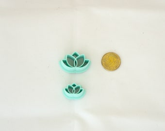 Lotus flower polymer clay cutters, 3D printed