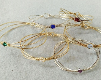 Birthstone Baby Bracelet - Birthstone Child Bracelet - Birthstone Toddler Bracelet - Baby Shower Gift - Birthday Gift - Little Girls Jewelry