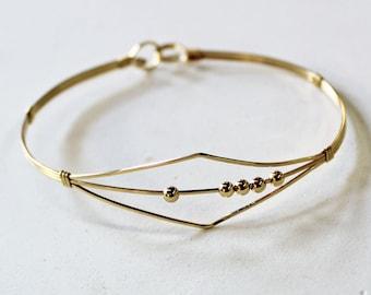 Fidget Bracelet - Dainty 14kt Gold Filled Wirewrapped Bracelet - Gold Bangle - Anxiety Jewelry - Sensory Bracelet