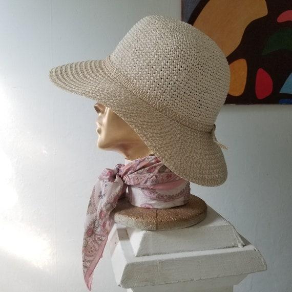 Vintage Summer Woven Straw Sun Hat - image 8