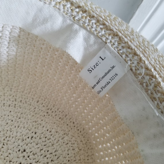 Vintage Summer Woven Straw Sun Hat - image 6
