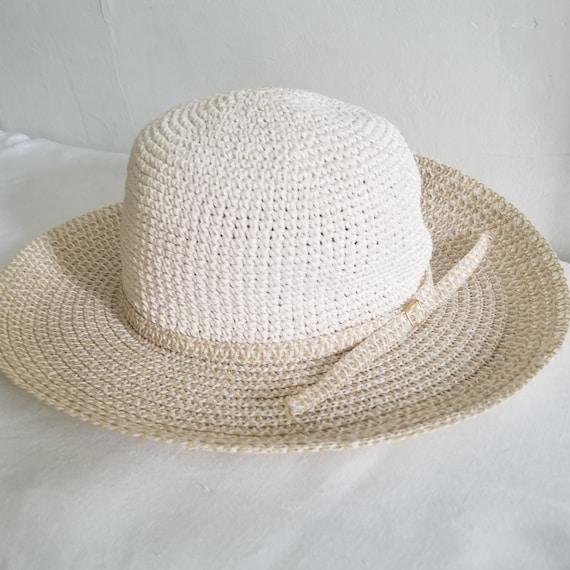 Vintage Summer Woven Straw Sun Hat - image 5