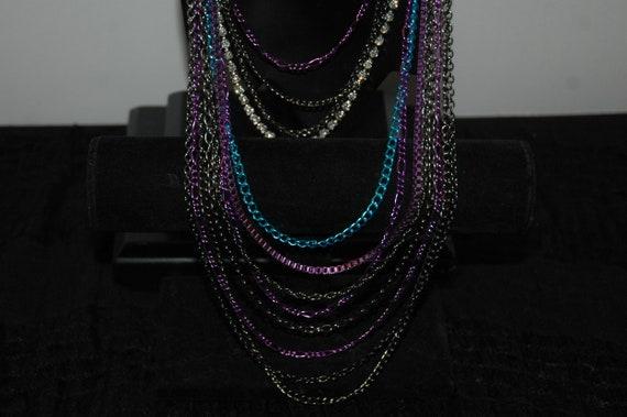 Vintage 90s multi chain necklace - image 2