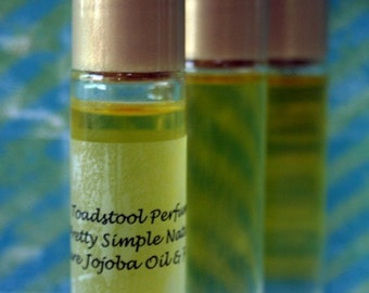 Perfume Oil Witch House  Roll On Organic Golden Jojoba Oil by Toadstool Soaps