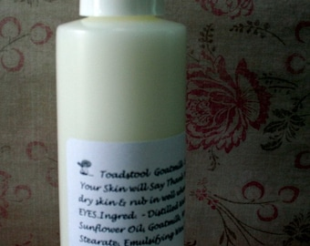 Moonlit Walk  Body Lotion Light and Creamy with Goatmilk  by Toadstool Soaps
