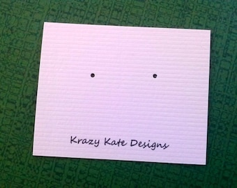 Post earring cards, Set of 30, Printed Earring Cards, jewelry cards, personalized earring card