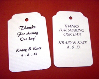 Personalized - 50 Wedding Tags - Baby Shower - Personalized Tags