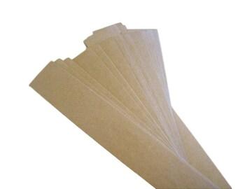 Belly band, set of 50, soap bands, kraft bands, product bands 1 1/2 x 11 kraft, white, cream, black