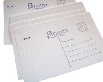 Postcard blanks, Postcards, set of 25, 4x6, Postcard, Soft White