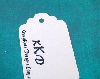 Business Tags, set of 50, personalized, Baby Shower, Personalized Tags, Party favor, wedding tag, printed tags