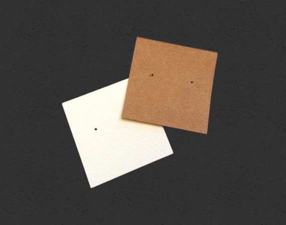 Color Deep Blue Kraft Paper Rectangle Blank Earring Cards for Jewelry Display Packaging Blue, 50x35mm