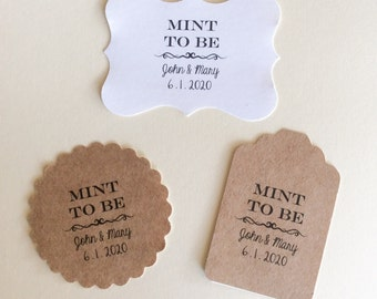 Stickers, Mint to be,  Wedding Stickers, Personalized Tags, set of 24