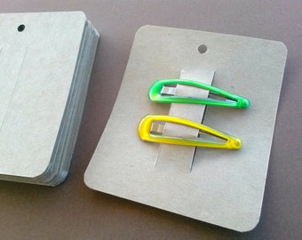 Hair Clip Cards, Set of 30, Jewelry Supply, Clippie Card, Product Tag, Jewelry Card