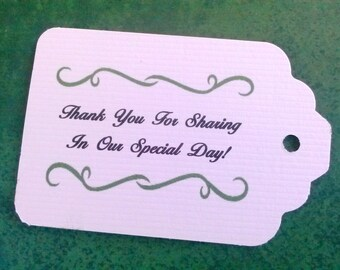 Thank You Gift Tags, Wedding Tags, Set of 50, Baby Shower, Personalized Tags