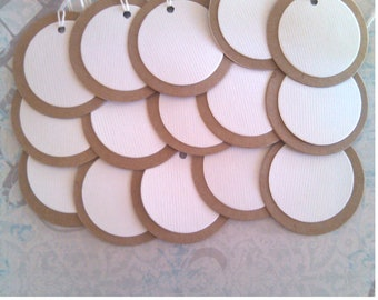 Circle Tags, Gift Tags, Set of 25, Deco Tag, Price Tag, Wedding Favor, Jewelry Tag