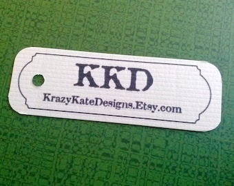 Gift tags, set of 50, personalized, Product Tags, Personalized Tags, 1x3, printed tags