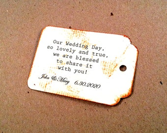 Wedding quote tags, Love Tags, personalized tags, vintage card, distressed tag, 50 Wedding Tags