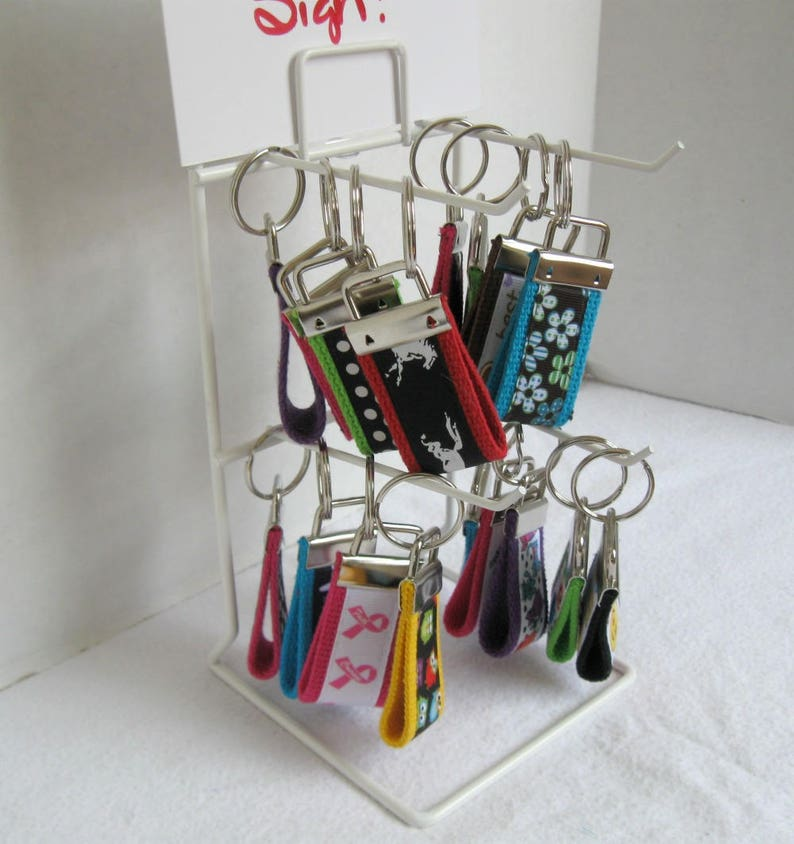 Mini Key Fob Grab Bag - Qty 100 - Display Rack Included - Handmade  Wholesale - Fundraisers - Small Key Chains - Zipper Pull Backpack Charm