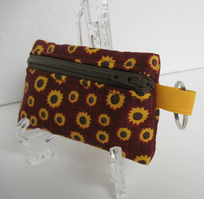 Coin Purse Sunflower wallet change Purse with Zipper Wallet Coin Pouch Mini Size Cash Phone Holder