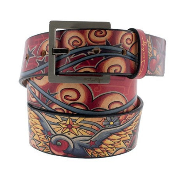 Happy Spaceman Leather Belt