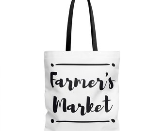 Farmer's Market Tote Bag - Grocery Bag - Small, Medium or Large | groceries reusable bags