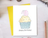 40th Birthday Card | Any Age Available