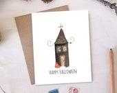 Happy Halloween Card - Haunted House
