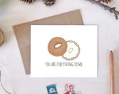 You Are Everything To Me Love Card | Everything Bagel | Valentine's Day Card