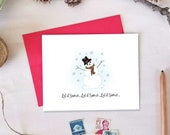 Holiday Cards - Let it Snow - Snowman Christmas Card