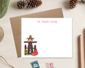 Teacher Stationery - Scarecrow Cards - Personalized Teacher Gift