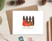 Personalized Note Cards - Pumpkin Patch Stationery - Back to School Teacher Gift