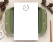 Greenery Monogram Notepad for Her - Personalized Notepads - Stationery Gifts for Women