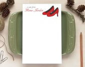 Red Heels Notepad for Her - Personalized Notepads - Stationery Gifts for Women
