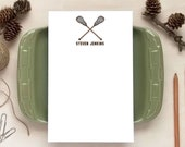 Lacrosse Notepad - Personalized Notepads - Stationery Gift for Coach or Players