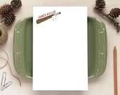 Personalized Notepad - Baseball Notepad - Stationery Gifts for Coach - Baseball Gifts